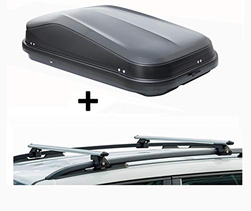 Dakkoffer JUEASY320 zwart dakkoffer autokoffer zwart glanzend afsluitbaar 320 liter