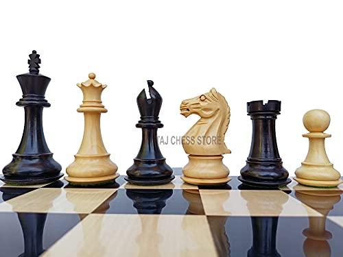 Desconocido Generic Piezas de ajedrez Staunton de Madera con 2 Reinas adicionales - Piezas de ajedrez ponderadas de Caballero Feroz de 4 '  Juego de ajedrez único   Tienda de ajedrez Taj