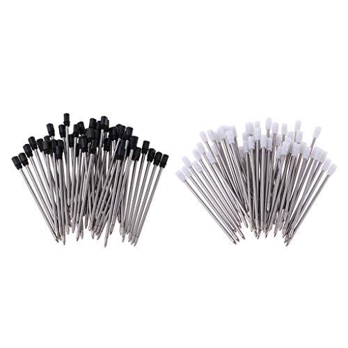 LEIPUPA Recambios de bolígrafo de gel al por mayor de 100 piezas para piezas de repuesto de bolígrafo de estudiante de personal