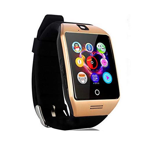 NONGLAN Bluetooth Llamar A Smart Watch con Pantalla Táctil Soporte De Soporte Deporte Fitness Sleep Tracker Smartwatch(Color:Oro)