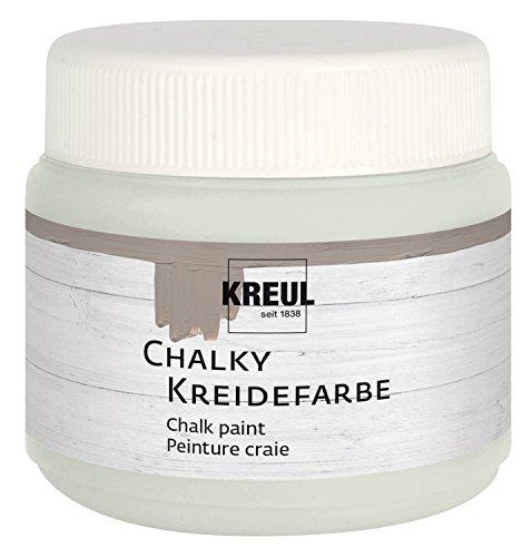 Kreul 75312 - Chalky Kreidefarbe, sanft - matte Farbe, cremig deckend, schnelltrocknend, für Effekte im Used Look, 150 ml Kunststoffdose, Cream Cashmere