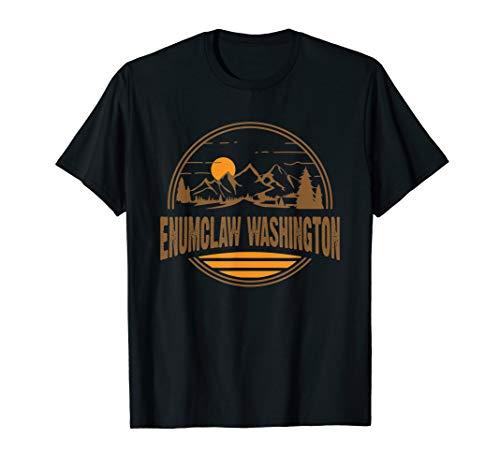 Vintage Enumclaw, Washington Mountain Hiking Souvenir Print T-Shirt