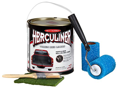 HERCULINER Beschichtung Kit schwarz 3,78 Liter inkl. Aufkleber in schwarz