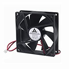 Package included: 1 Piece fan include fan grill and mounting screws & nuts Dimensions: 92mm(L) x 92mm(W) x 25mm(H) / 3.62in(L) x 3.62in(W) x 0.98in(H) Rated Voltage: DC 12V; Rated Current: 0.12Amp; Rated Speed: 2000 RPM; Air flow: 43CFM; Noise: 27dBA...