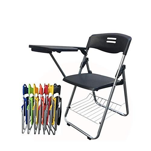 Dongbin Bewegliche Schnalle Stuhl mit Schreibtafel Bürositzung schriftlich L-förmigen Stuhl freier Installation Tisch und Stuhl integrierte Student Klappstuhl 42 * 46,5 * 80.5CM,E