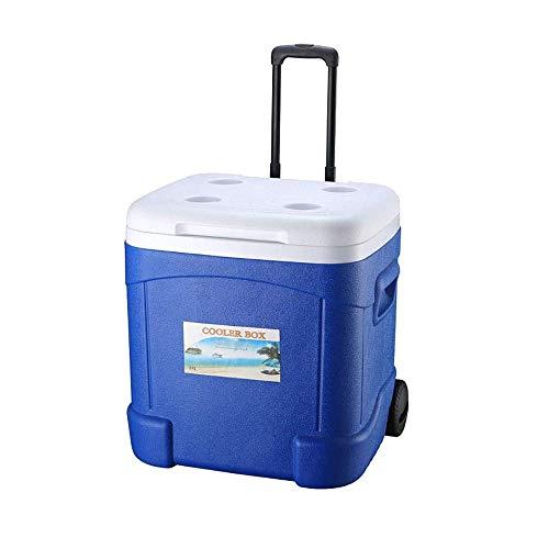 WNN-URG Rodillo cubo de hielo - coches comerciales de alimentos caja de almacenamiento Inicio Refrigerador al aire libre que acampa portable/auto-conducción refrigerador de gran nevera cubo de hielo