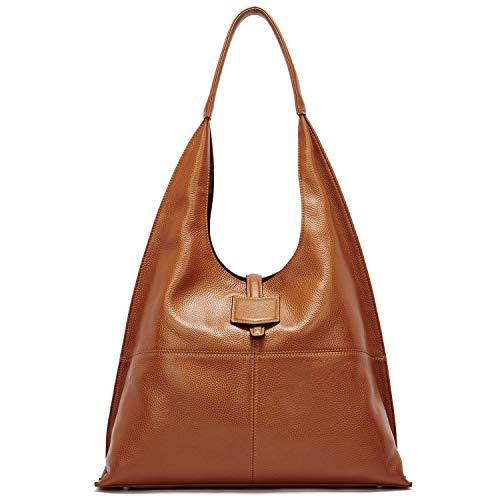 BOSTANTEN Women Leather Hobo Handbags Designer Purses Shoulder Bags Brown