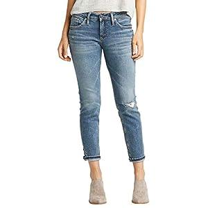 Women's Boyfriend Mid Rise Slim Leg Jeans