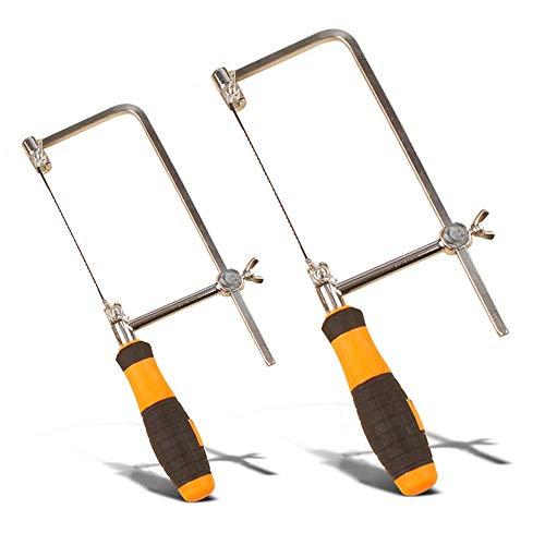 Hamkaw Laubsäge Rahmen Verstellbar Juweliere Säge Jewlers Saw Frame Hobby Holzbearbeitung Werkzeuge Mit 5pcs Zufälligen Schmuck Sägeblättern Schnitzwerkzeuge Set
