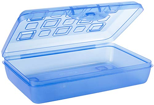 Sterilite Pencil Box with Splash Tint Lid (17224812),Multicolor