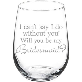 Mud-pie Wine Glass will you be my bridesmaid