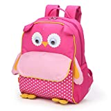Yodo Little Kids School Bag Pre-K Toddler Backpack with Name Tag and Chest Strap, Owl
