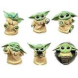 BESTZY Baby Yoda Spielzeug 6 Stück/Set Baby Yoda Serie Actionfigur Spielzeug Stars Wars Das mandalorianische Doll Das Kind Sammlerpuppe Yoda Action Model Büro Ornament Kinder(C)
