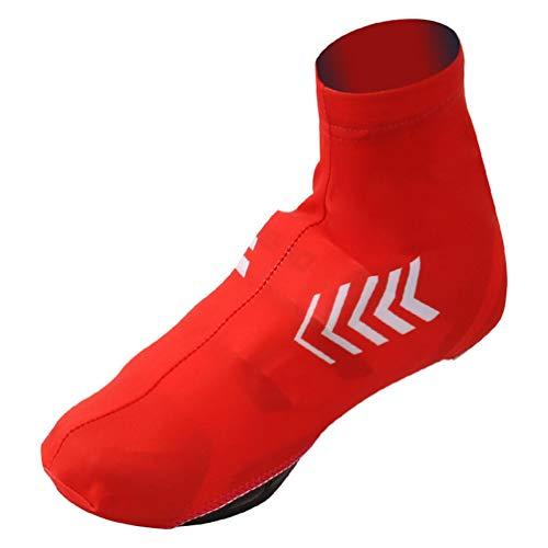 YUYAXPB Zapatos De Ciclismo, Cubrebotas Cubre Fundas Térmicas Impermeables, Bicicleta Al Aire Libre Riding Shoe Sleeve, Red, XL