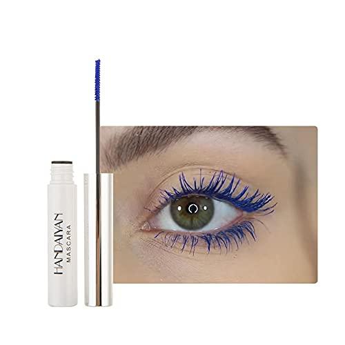 GL-Turelifes 12 Color Mascara Bunte Fasermascara Charmante, langlebige Mascara mit dicken und langen Wimpern, wasserdicht und wischfest (Saphirblau)