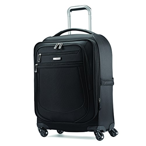 Samsonite Mightlight 2 Softside Luggage with Spinner Wheels, Black, Checked-Medium 25-Inch
