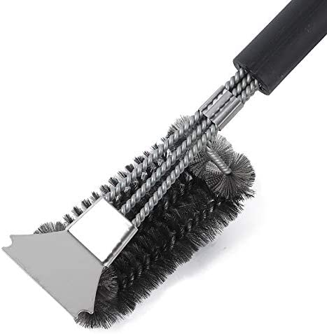 TLOG Grill Brush and Scraper Easy BBQ Brush for All Grill Types 18 Inch Wire Bristle Brush Stainless product image
