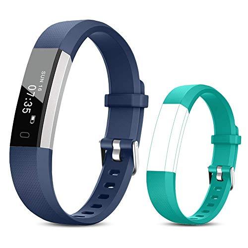 TOOBUR Orologio Fitness Tracker per Donna Uomo Bambini, Impermeabile Contapassi Polso Smartwatch, Pedometro Calorie Activity Tracker Smartband con Monitoraggio Sonno e Sveglia Vibrazione