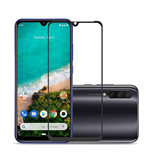 Trimanav Full Glue Edge -To- Edge Tempered glass Screen Protector For Xiaomi Mi A3. (Anti-Fingerprint,Bubble Proof With 9H Hardness).