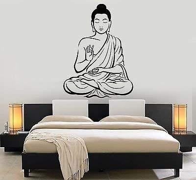 V-studios Vinyl Wall Decal Buddha Meditation Room Yoga Buddhism Stickers Mural VS650
