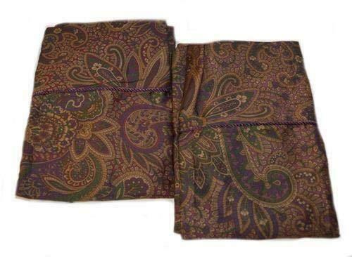 Lauren by Ralph Lauren New Bohemian Paisley Set of King Pillowcases in Burgundy