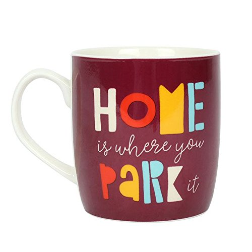Brown & Ginger 'Home Is Where You Park It' Boxed Ceramic Mug For Motorhome or Caravan Owners!