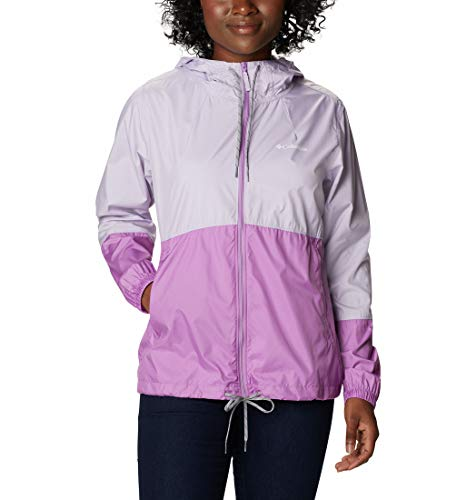 Columbia Flash Forward Cortavientos, Mujer, Pale Lilac/ Blossom Pink, L
