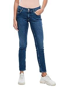 Q/S designed by - s.Oliver Damen Slim Fit: Slim leg-Jeans dark blue 34.32