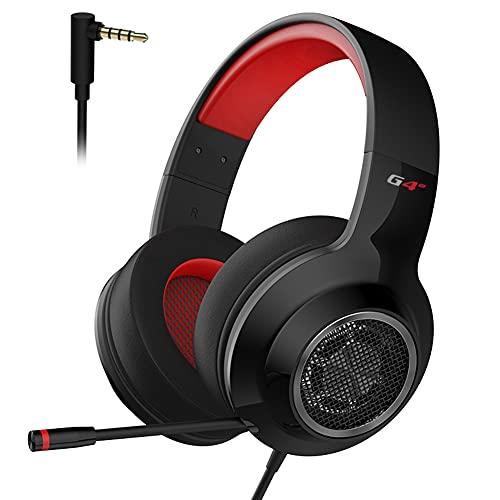 EDIFIER G4 SE Gaming-Headset für PS4, PC, Xbox One Controller, Geräuschunterdrückung, Over-Ear-Kopfhörer mit Mikrofon, Stereo-Bass-Surround, weiche Memory-Ohrenschützer für Laptop, Mac, Nintendo, PS4