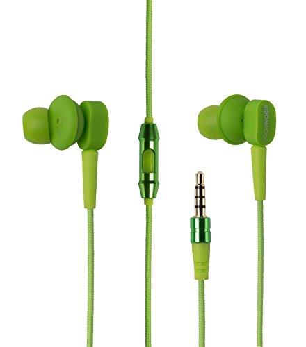 Boompods In-Ear Sport Kopfhörer Earbuds mit Inline-Fernbedienung Grün