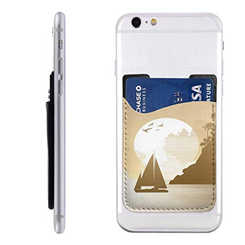 Interieur Shop portemonnee voor mobiele kaarten, kaartenvak, ID-kaartvak, mouwen voor creditcards jungle zeil avontuur vogel boot vliegen vakantie bergblad