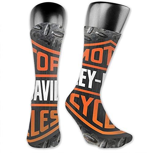 viata sock Harley Davidson - Calcetines altos de metal, calcetines de tubo suave, calcetines atléticos, cómodos y largos