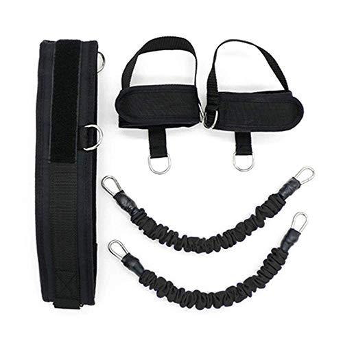 ZEH Sportbedarf Muskelkraft Tragbarer Frühling Exerciser Bein Puller Training Chest Expander Ausrüstung elastisches Seil, Blau FACAI (Color : Black)