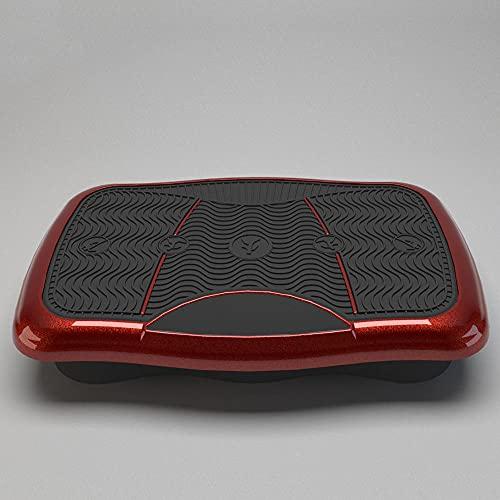 Fnho Plataforma Vibración Ultra Delgado,Plataforma Vibratoria Oscilante,Máquina de Adelgazamiento de Choque Que modela el Cuerpo, máquina de batido Perezoso-Rojo
