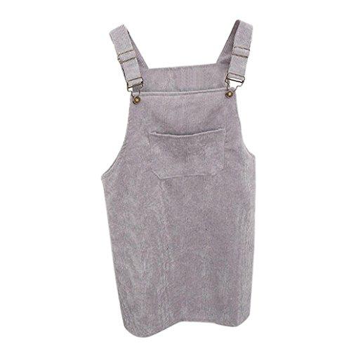 Kanpola Kleider Kanpola Kleider Damen Herbst Cord Straps Kurze Tasche gerade Weste Rock Kleid