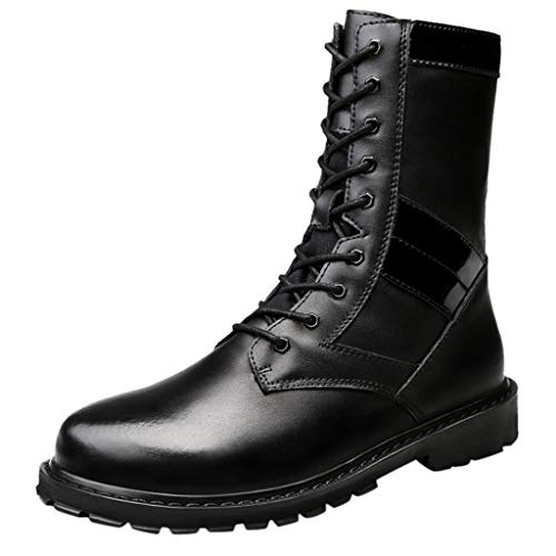 eiiu000333 Hohe Stiefel Schnürstiefel Herbst Paar Modelle Größe Militärstiefel tragen hohe Hilfe...