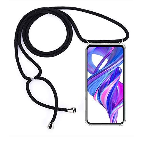 GoodcAcy Handykette Hülle für Huawei Honor 9X Necklace Hülle mit Kordel zum Umhängen Necklace Transparent Silikon Acryl Hülle- Schnur mit Hülle zum umhängen[+Panzerglas Schutzfolie]