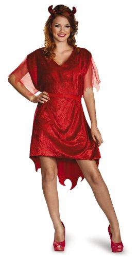 Disguise Disfraz de Diablo Ajustable para Mujer Rojo - L