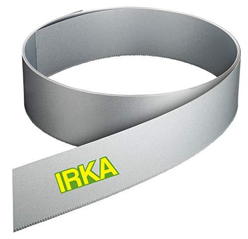 IRKA Rasenkantenband Alu/Zink Metall 15 cm hoch Rasenkante mit Versteifungskante Beeteinfassung 10 Meter