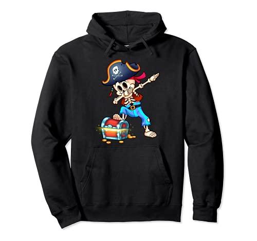 Esqueleto Dabbing Pirata Divertido Halloween Sudadera con Capucha