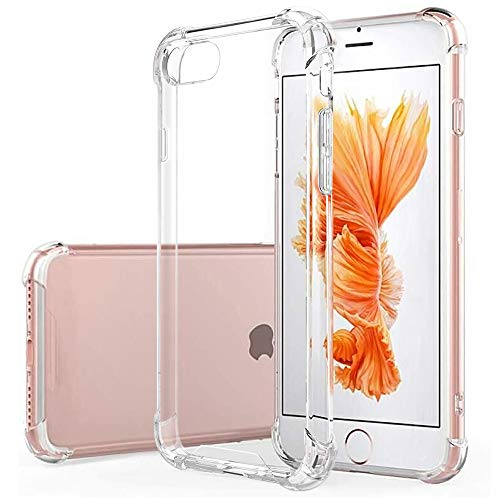 Hually Funda iPhone SE 2020, Funda iPhone 8, iPhone 7 Carcasa, Silicona TPU Gel Ultra Fina Protección Anti- Choques y Anti- Arañazos para Funda iPhone SE 2020/7/8 4.7'–HD Clara