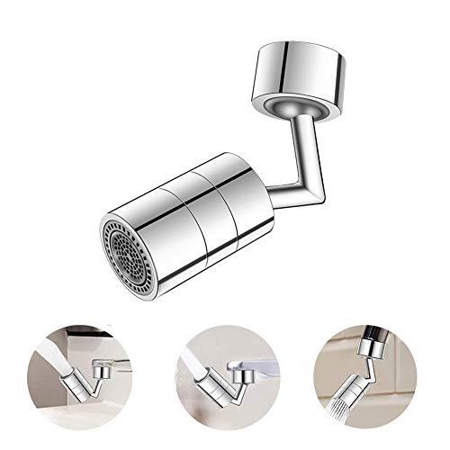 Robinet de filtre anti-éclaboussures universel, adaptateur de tête de pulvérisateur de robinet de sortie d'eau à rotation de 720 °, filtre à filetage femelle à filetage mâle 24-22MM universel.