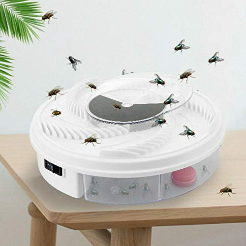 wgkgh Rotating Electric Indoor Fly Trap Catcher,Automatic Fly Trap,Revolving Electronic Fly Trap ,Insect Traps,USB Automatic Flycatcher Mosquito Killer,,For Indoor Outdoor