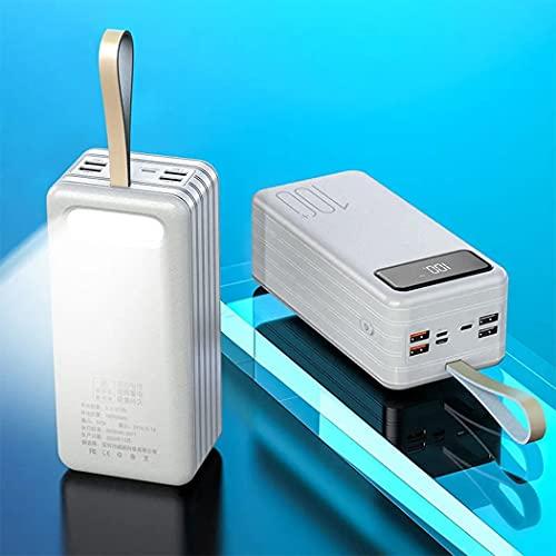 PIANAI Cargador USB c/Cargador portatil/Cargador de Pilas Recargables/Cargador Pilas/Cargador USB Multiple/Mini Power Bank Mini/Power Bank USB c,Blanco,100000mAh