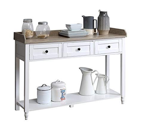 Function Home 3 Drawer Console Table Sofa Side Table with Shelf for Living Room Office Bedroom, Hallway,Entryway 33.25'' H x 47.25'' W x 15.75''D