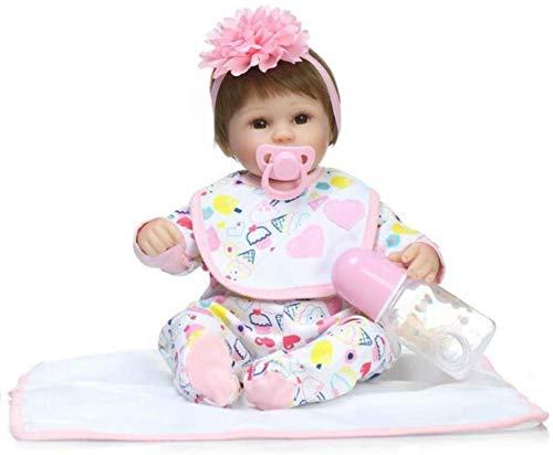 SERBHN Recién Nacido De Silicona Muñecas Gigicloud 42Cm Simulación De Vida De La Princesa del Bebé De Juguete Educación De Super Soft Comfort Bebé