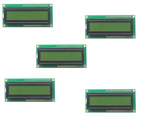 VTRONIC Pack de 5 Modulos LCD 1602 16x2 con retroiluminacion VT162A Controlador S6A0069