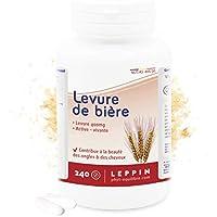 LEPPIN ☘️ Levadura de cerveza 240 comprimidos VEGAN | Levadura activa - viva - revivible | Piel sana y cabello sano | Complemento alimenticio 100% natural.