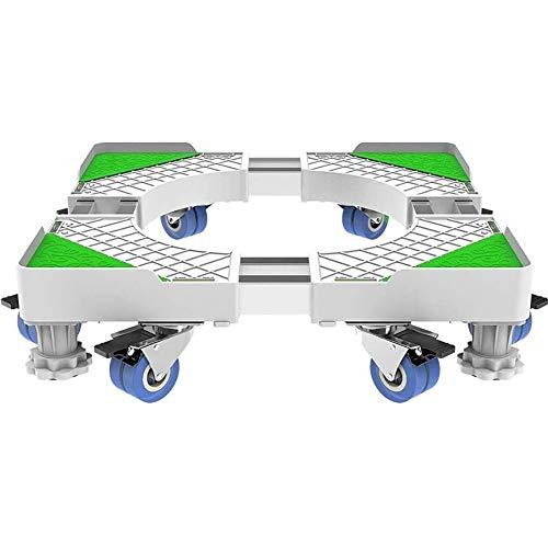 YEXINTMF Lavatrice Base Staffa Mobile Wheel Universal Storage apposita Staffa Mensola treppiede for Lavatrice, asciugatrice e Piccolo Frigorifero