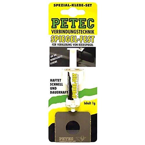PETEC 93800 SPIEGEL-FEST Spezial-Klebe-Set Rückspiegel Kleber Spiegelfest 1g